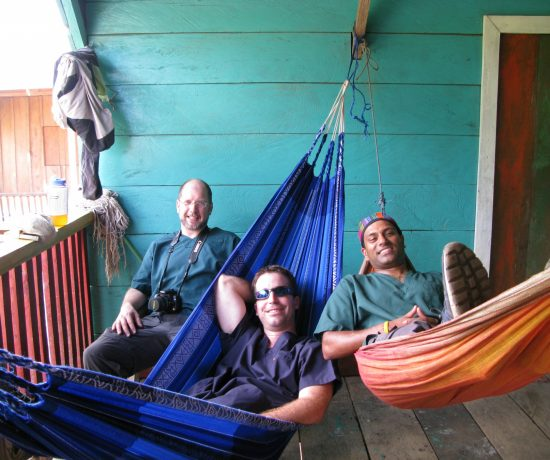 Dentists take a break at village house