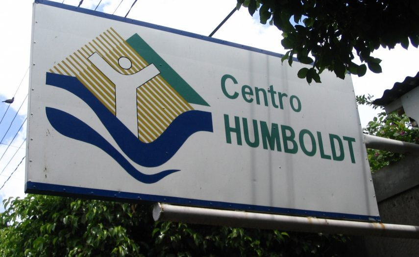 A billboard for Centro Humboldt, a leading environmental organization in Nicaraguan civil society